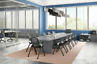 12 Foot MODERN Boat Shaped Conference Table with Grommets in White and 5 Colors