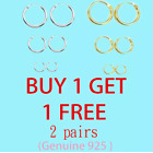 Mini Hoop Small Endless Sterling Silver 925 earring 8mm 10mm 12mm Single/Pair image