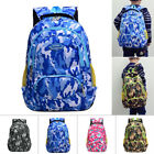 New Kids Boys Girls Backpack School Bag Rucksack Children Camouflage Bookbag