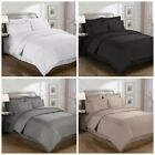 Chezmoi Collection 3-piece Solid Pleated Hem Duvet Cover Set  with Corner Ties image