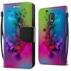 """For Motorola Moto G4 Play 5"""" XT1607 XT1609 Wallet Card Slot Stand Case Cover"""