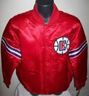 LOS ANGELES L.A. CLIPPERS Starter REVERSIBLE Satin Jacket M L XL 2X BLUE & RED on eBay