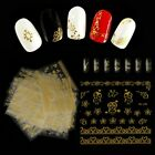 Style 3D Flower Panda Fox Manicure Decor Nail Art Sticker Metallic For 30Pc/Set