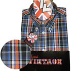 Warrior UK England Button Down Shirt DEKKER Slim-Fit Skinhead Mod Retro