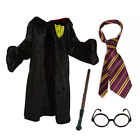 Children's Wizard Witch Cape Tie Wand Glasses Scarf Book week
