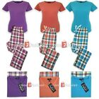 Ladies 2 Piece Pyjamas Suit Set Cotton Summer Loungewear Night pjs Womens