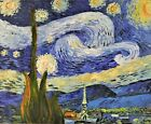 Vincent Van Gogh Starry Night Oil Painting On Canvas for Dinning Room Home Decor