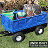 More images of Sunnydaze Heavy-Duty Dumping Utility Cart Liner - Includes Liner Only - Blue