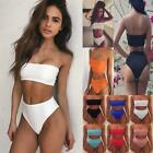 2019 Women High Waist Padded Bra Top Thong Bottom Bikini Set Swimsuit Swimwear $10.0 USD on eBay