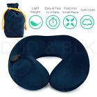Inflatable Air Pump Travel Neck Pillow Comfortable U-Shape Airplane Cushion
