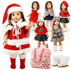 "For American Girl 18"" Inch Dolls Clothes Dress Holiday Outifts Accesssories Set"