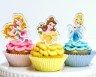 Disney Princesses Half Body Edible Wafer Cupcake Cake Toppers Decorations