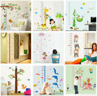 Kids Height Charts Wall Sticker Decal Children Growth Chart Home Decor 15 Styles