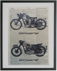 Triumph Motorcycle Print No.435, triumph decals, motorcycle art $13.78 USD on eBay