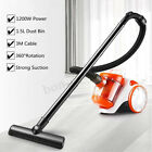 Upright Bagless Cylinder Vacuum Cleaner Cyclonic Lightweight Washable Filters !