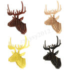 3d Wooden Deer Head Wall Diy Art Hanging Stag Antlers Home Decor Ornaments