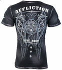 AFFLICTION Mens T-Shirt ROYALE Wings BLACK Tattoo Motorcycle Biker MMA UFC $58 image