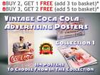 114 Vintage Coca-Cola Advertising Prints / Posters, Collection 1, Size A4 / A3 £7.99  on eBay