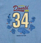 Donald Duck Through the Years T-shirt Disney '34 Graphic Tee Blue NWT