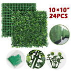 24pcs&12pcs Artificial Boxwood Mat Wall Hedge Decor Privacy Fence Panel Grass
