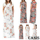 Plus Size Ladies Short Sleeve Floral Boho Women Party Long Maxi Dress Clothing
