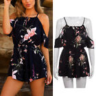Women's Playsuit Floral Romper For Holiday Ladies Plus Size Summer Jumpsuit 5XL