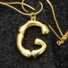 1pcs Vintage Women Gold Plated Alphabet Letter Pendant Chain Necklace Jewelry