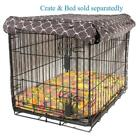"""Molly Mutt Dog Crate Cover """"Clark Gable"""" Grey Washable 100% Cotton All Sizes"""