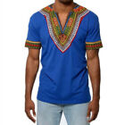 African Tribal Shirt Men Short Sleeve Dashiki Print Succinct Hippie Top Blouse <br/> ❤ 2018 NEW STYLE ❤ Best Quality ❤ US STOCK ❤Easy Return