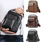 US STOCK Men Crossbody Bags Small Casual Hand Bag PU Leather Male Shoulder Bags