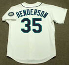 RICKEY HENDERSON Seattle Mariners 2000 Majestic Throwback Home Baseball Jersey on Ebay