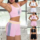 Women's Sport Yoga Clothing Sexy Sports Crop Tank Top and Shorts Sets Tracksuits