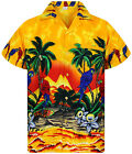 Funky Hawaiian Parrot Different Colors Short Sleeve