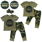 Leisure Infant Baby Toddler Camo T-shirt Tops Pants Outfits Set Clothes Oversize