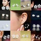 925 Sterling Silver 3 Star Stud Earrings Ear Jewellery Women Small Animal Flower