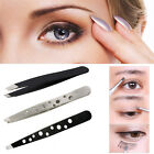 Eyebrow Eyelash Tweezers Hair Removal Plucker Puller Slanted Tip  Makeup. Sale