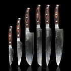 Color Wooden Handle Damascus Chef