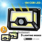 2xSolar Lights Motion Sensor,180 COB LED 1000 Lumens Outdoor Garden Sensor Light