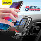Baseus 360° Rotation 10W Qi Wireless Charger Automatic Sensor Car Phone Holder