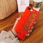 For iPhone XS Max Moschino grip strap cover case with retail packaging