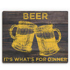 Click Wall Art 'Beer It's What's for Dinner' Graphic Art on Plaque