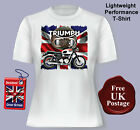 Women's, Triumph T Shirt, Womens, Triumph Motorcycles, Union jack, £14.95 GBP on eBay