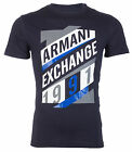 Armani Exchange AN-16 Mens Designer T-SHIRT Premium NAVY BLUE Slim Fit $45 NWT