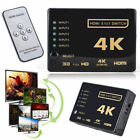 5 Port HDMI Switch Box Splitter 4K 3D 1080P IR Remote Control Selector Hub US