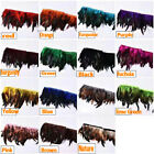 10 Yards Schlappen Feather Fringe Rooster Trim Sewn On feathers Multi-colors