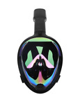 Breathe Easy Snorkel Mask 180 Full Face GoPro Ninja Mount Scuba Swim H2O H20 Fog
