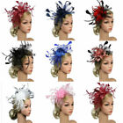 Women Sinamay Fascinator Cocktail Party Hat Wedding Church Kentucky Derby Dress