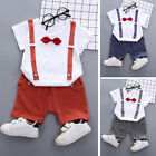 Baby Boy Short Sleeve T-Shirt Tops + Shorts Pant Casual Outfits Clothes 1-5Years