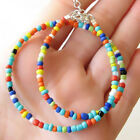 Bohemian Vintage Handmade Multicolor Beaded Short Necklace Choker Womens Jewelry image