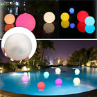 Solar 7 Color Changing LED Floating Ball Lights Swiming Pool Pond Outdoor Garden $11.01 USD on eBay